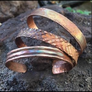 3 piece copper bracelet set